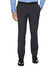 Men's Tonal Check Slim-Fit Dress Pants