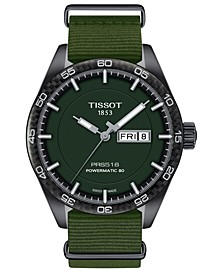 LIMITED EDITION Swiss T-Sport Powermatic 80 Green Fabric Strap Watch 42mm, Created for Macy's