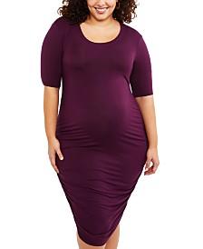 Motherhood Maternity Plus Size Ruched Dress