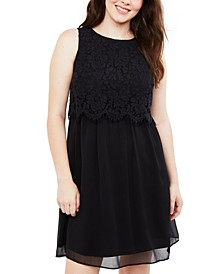 Tiered Lace Nursing Dress