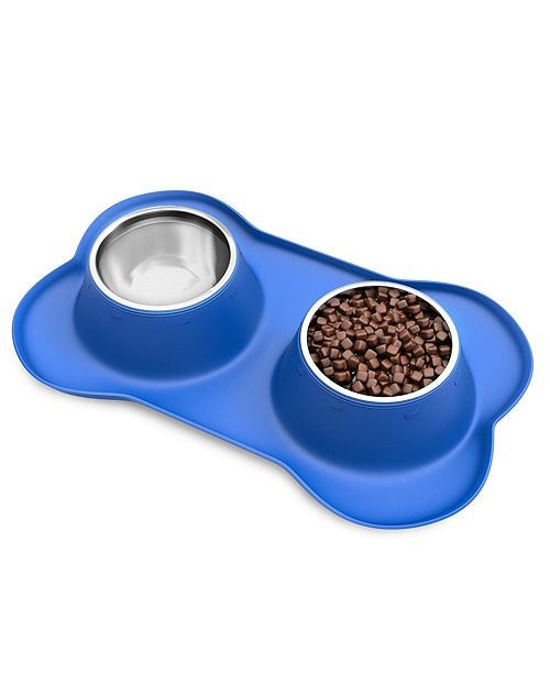 PetMaker Stainless Steel Pet Bowls for Dogs and Cats- Set of 2