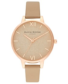 Women's Toffee Leather Strap Watch 34mm