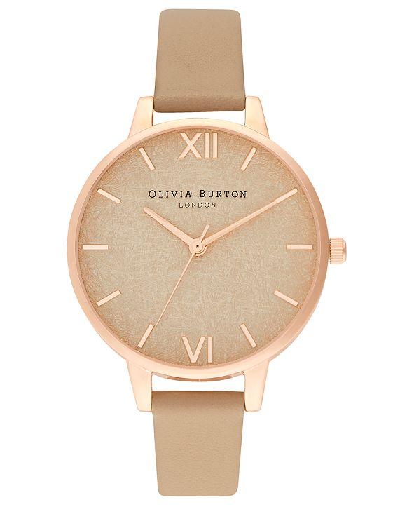 Olivia Burton Women's Toffee Leather Strap Watch 34mm