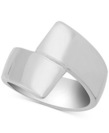Polished Bypass Ring in Fine Silver-Plate