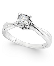 Diamond Princess Solitaire Ring (1/3 ct. t.w.) in 14k White Gold
