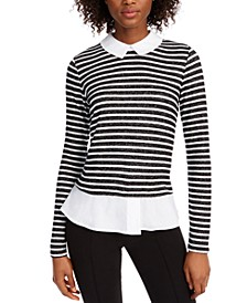 Striped Faux Layer Top, Created for Macy's