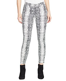 Perfect Snake-Print Skinny Jeans