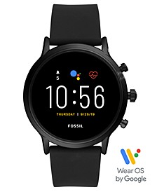 Tech Gen 5 Carlyle HR Black Silicone Strap Smart Watch 44mm, Powered by Wear OS by Google