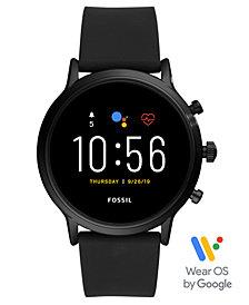 Fossil Tech Gen 5 Carlyle HR Black Silicone Strap Smart Watch 44mm