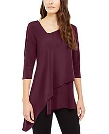 Asymmetrical-Hem 3/4-Sleeve Top, Created for Macy's