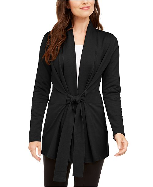 Alfani Tie-Front Cardigan, Created For Macy's