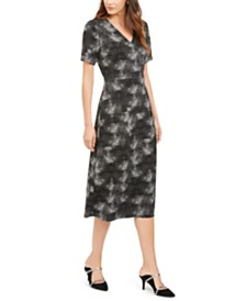 Alfani Printed Midi Dress, Created For Macy's