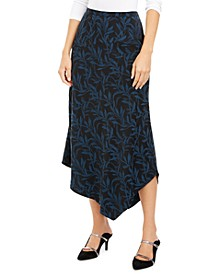 Printed Asymmetrical Midi Skirt, Created for Macy's