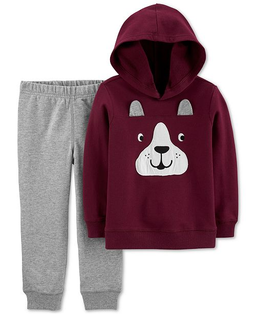 Carter's Baby Boys 2-Pc. Cotton French Terry Hoodie & Jogger Pants Set