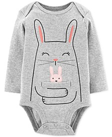 Baby Girls Cotton Bunny Hug Bodysuit