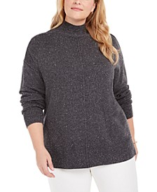 Plus Size Mock-Neck Sweater, Created for Macy's