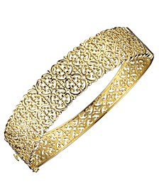 Floral Caged Bracelet in 18K Gold Over Sterling Silver