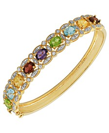 Multi-Gemstone (6 1/5 ct. t.w.) Bracelet in Two-Tone Sterling Silver