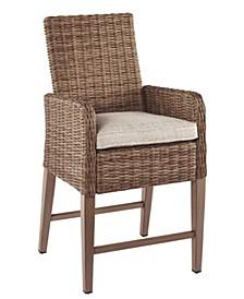 Ashley Furniture Beachcroft Outdoor Bar Stool with Cushion Set of 2