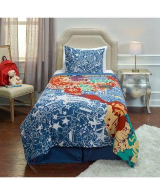Multi//Blue Toddler Tadpoles Galactic Astronaut 2pc Comforter Set