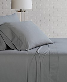 Solid Cotton Percale Sheet Set Collection