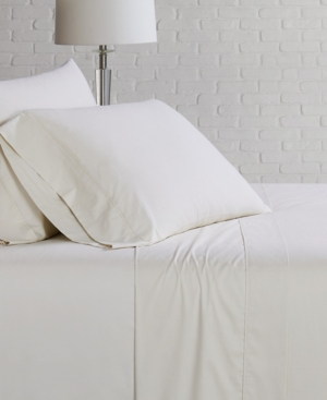Brooklyn Loom Solid Cotton Percale Twin Sheet Set Bedding