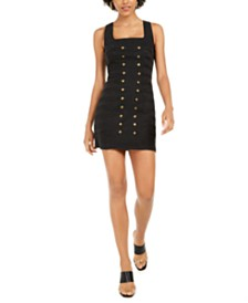 GUESS Tamara Denim Button-Trim Dress