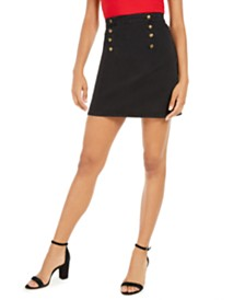 GUESS Kalista Button-Embellished Skirt