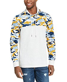 Men's Camo Blocked Hoodie, Created For Macy's