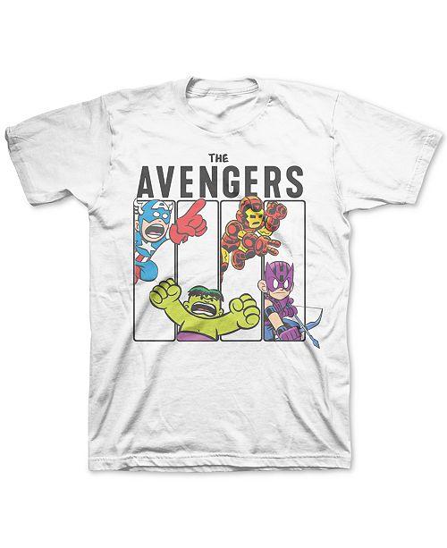 Marvel Little Boys The Avengers Mini Blocks T-Shirt