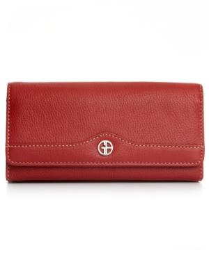 Pebble Leather Receipt Wallet