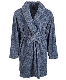 Max & Olivia Big Boys Marled Fleece Robe, Created For Macy's