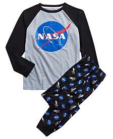 Max & Olivia Big Boys 2-Pc. NASA Pajama Set