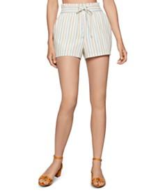 BCBGeneration Striped Paperbag Shorts