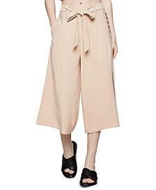 Wide-Leg Culotte Pants