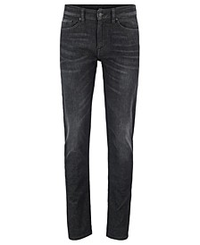 BOSS Men's Delaware BC-L-P Slim-Fit Super-Stretch Black Denim Jeans