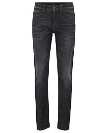 BOSS Men's Delaware BC-L-P Slim-Fit Super-Stretch Black Denim Jeans