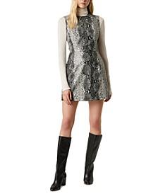 Snake-Print A-Line Dress