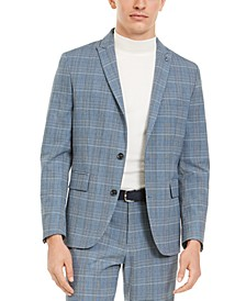 INC Men's Slim-Fit Glen Plaid Blazer, Created For Macy's