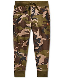 Little Boys Camo-Print Fleece Joggers