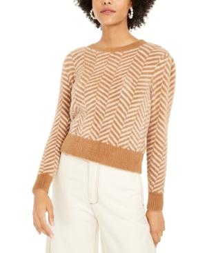 1930s Style Blouses, Shirts, Tops | Vintage Blouses Lucy Paris Chevron-Print Sweater $79.00 AT vintagedancer.com
