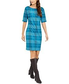 Plaid Sheath Dress, Created for Macy's