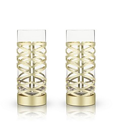 Belmont Crystal Patterned Highball Glasses