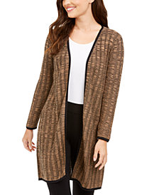 Alfani Textured Open-Front Cardigan, Created For Macy's