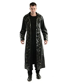Men's Pirate Trench Coat Adult Costume