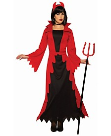BuySeasons Women's Devil Women Adult Costume, Fake Pitch Fork Not Included