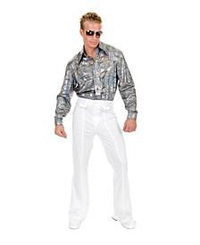 Men's Glitter Hologram Disco Shirt