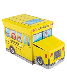 Trademark Global Collapsible Truck School Bus Toybox