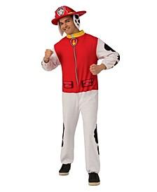 Men's Paw Patrol Marshall Adult Jumpsuit Adult Costume
