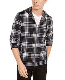 INC Men's Plaid Zip-Front Hoodie, Created for Macy's